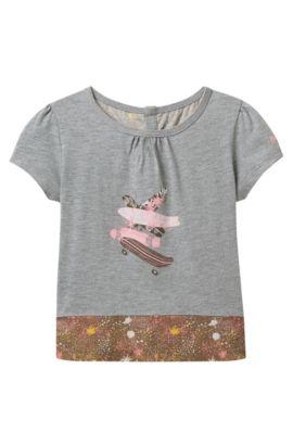 'J15341' | Girls Mixed Print T-Shirt, Patterned