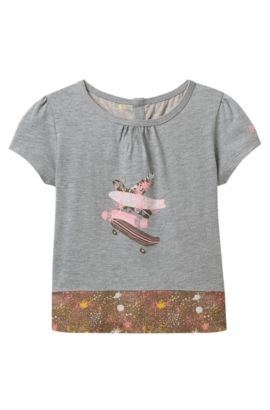 'J15341' | Girls Mixed Print T-Shirt, Patterned