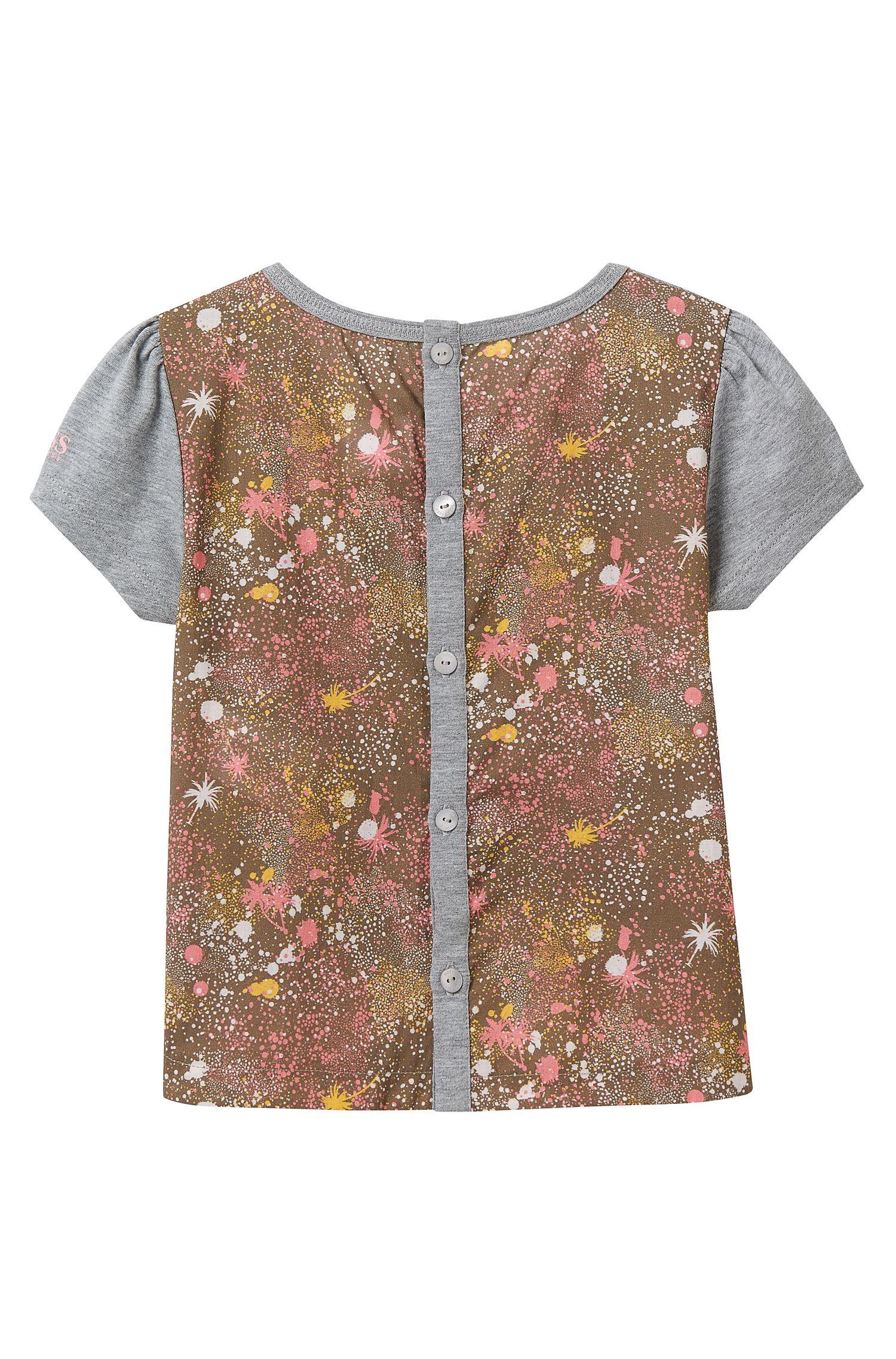'J15341' | Girls Mixed Print T-Shirt