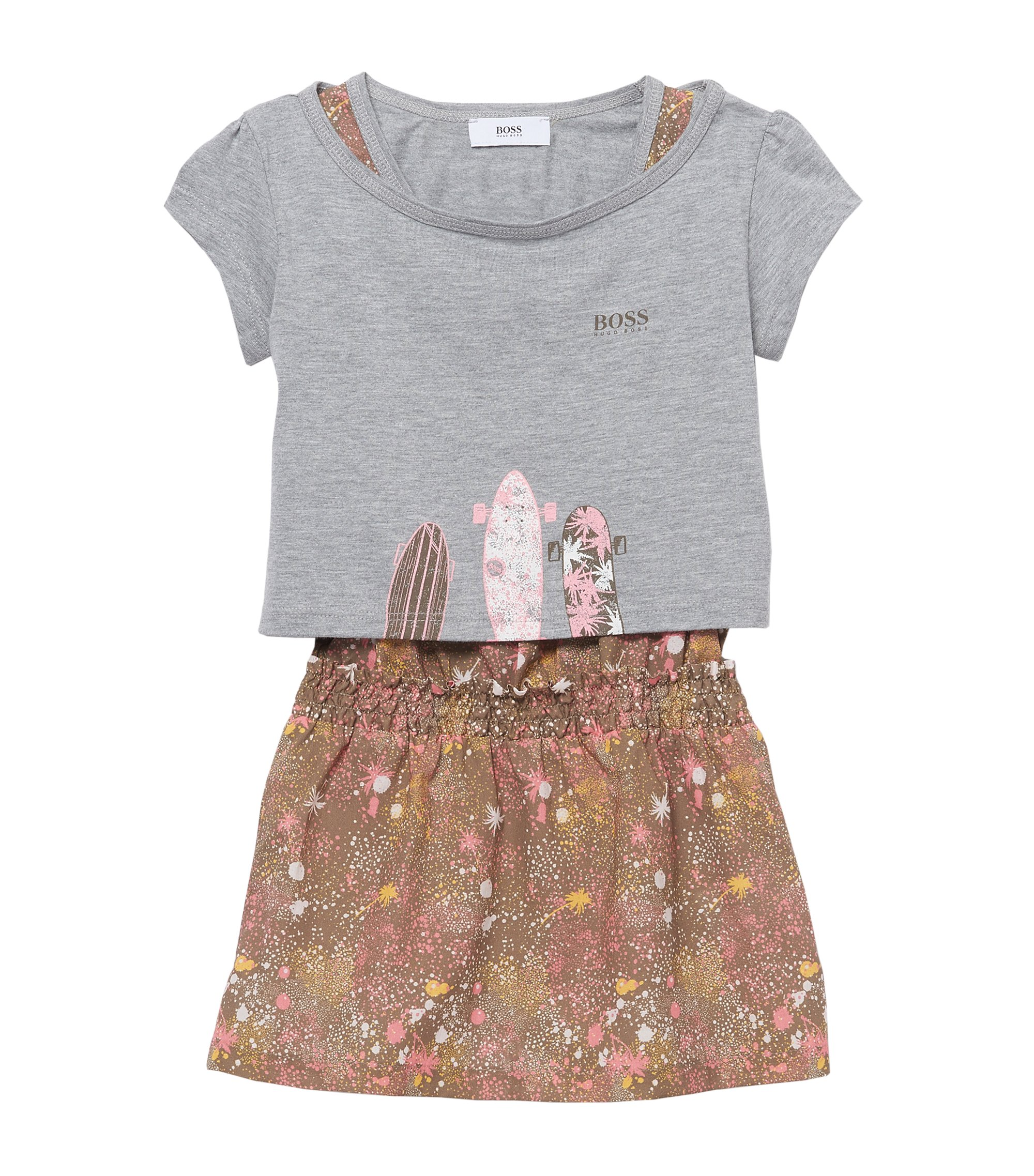 'J18101' | Cotton T-Shirt, Dress Set, Patterned