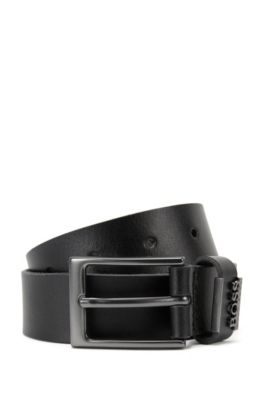 'J20V74' | Boys Leather Belt, Black