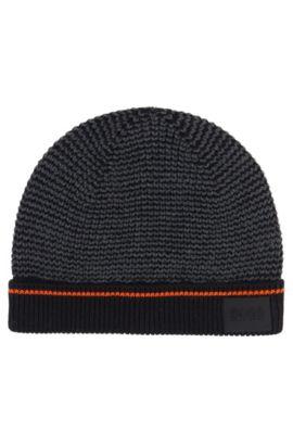 'J21174' | Boys Cotton Knit Beanie, Patterned