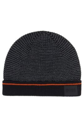'J21174' | Boys Cotton Knit Beanie, Patterned