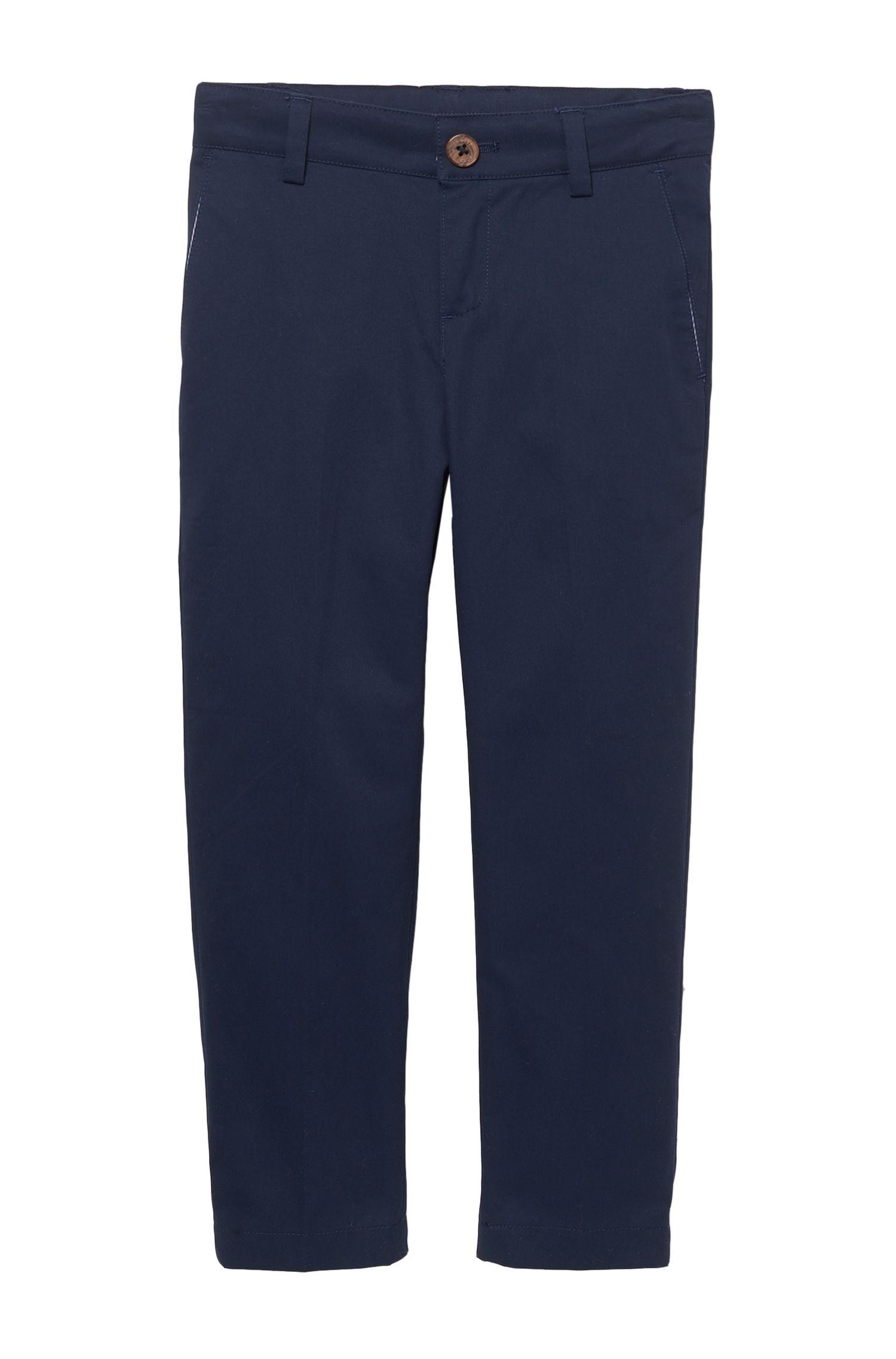 'J24399' | Boys Stretch Cotton Trousers
