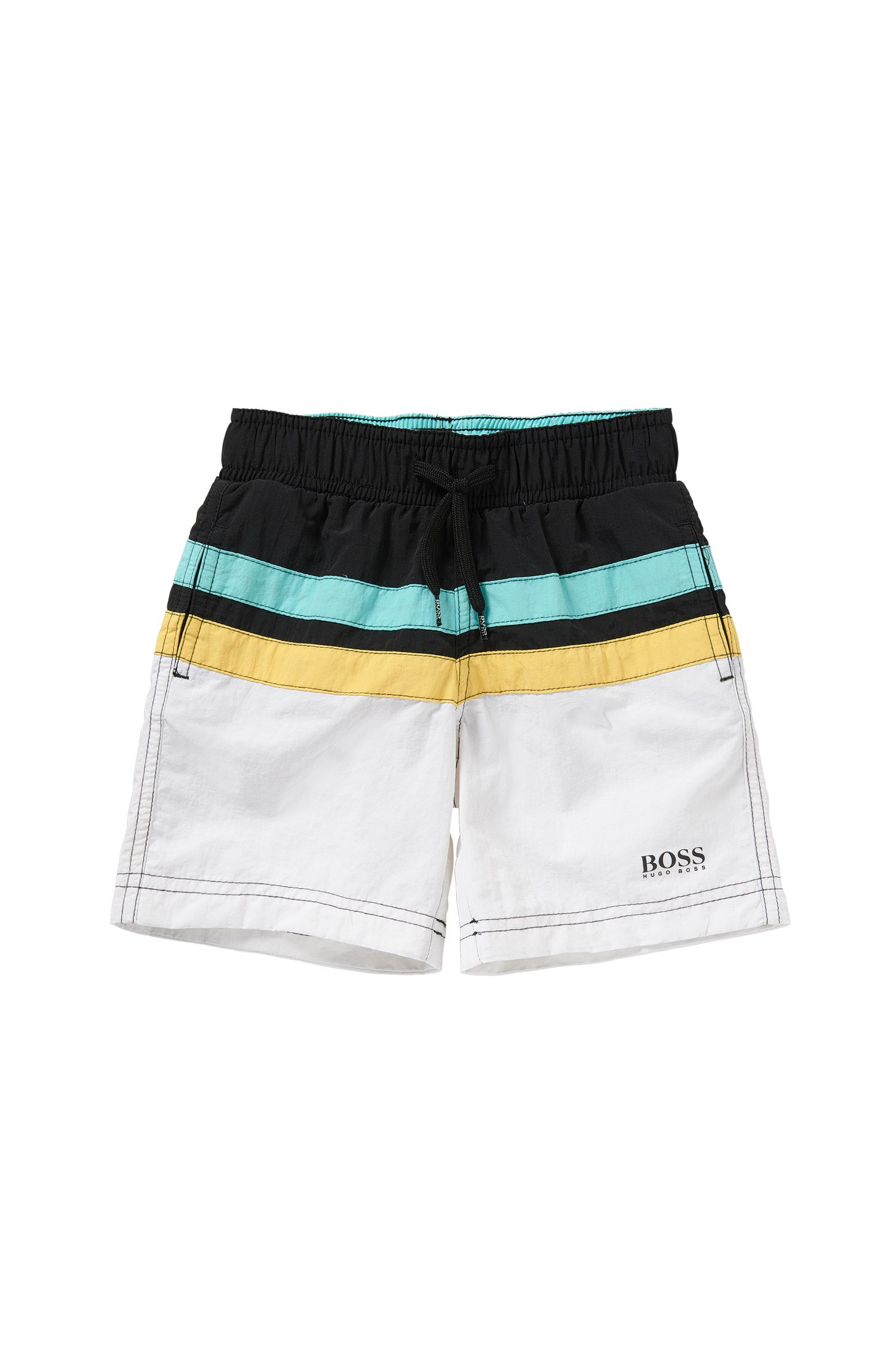 'J24404' | Boys Stretch Cotton Swim Trunks