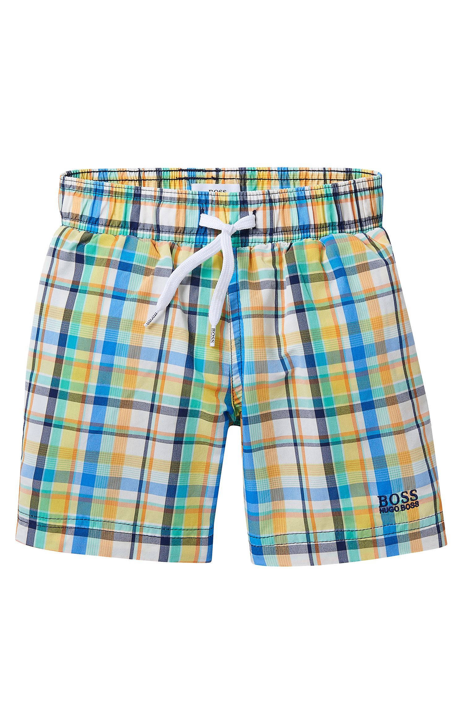 'J24405' | Boys Stretch Cotton Quick Dry Swim Trunks
