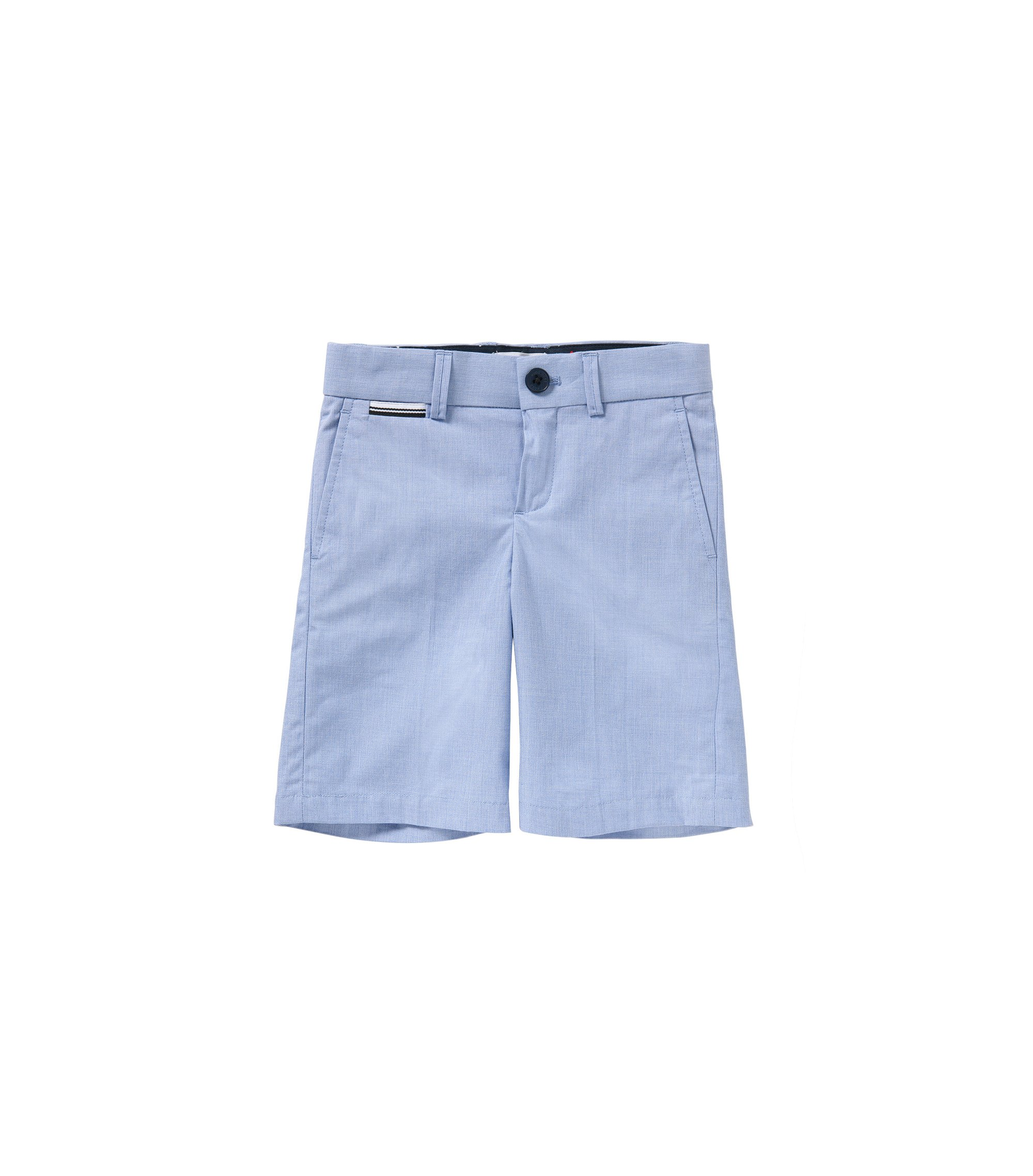 'J24411'   Boys Cotton End-on-End Bermuda Shorts, Light Blue