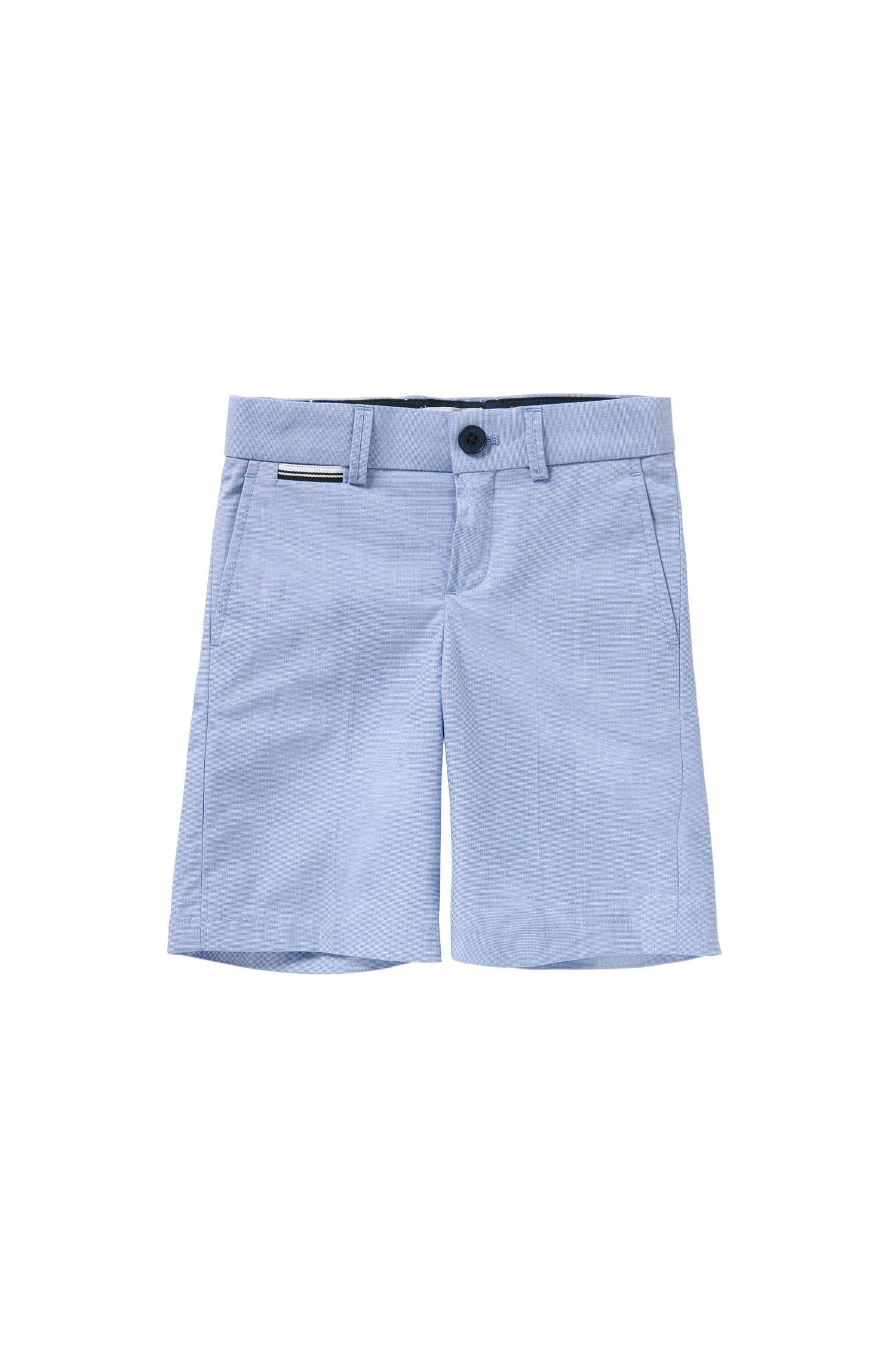 'J24411' | Boys Cotton End-on-End Bermuda Shorts