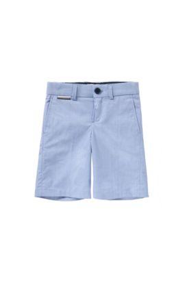 'J24411' | Boys Cotton End-on-End Bermuda Shorts, Light Blue