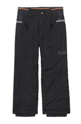 'J24417' | Boys Stretch Cotton Blend Snow Pants, Black