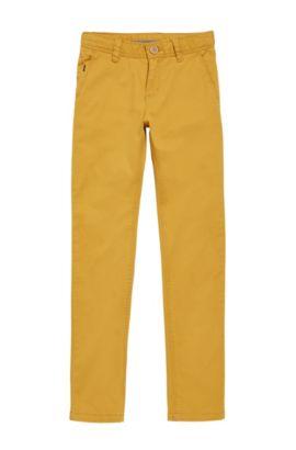 'J24421' | Boys Stretch Cotton Blend Chinos, Light Brown