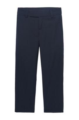 'J24V07' | Boys Wool Dress Pants, Dark Blue