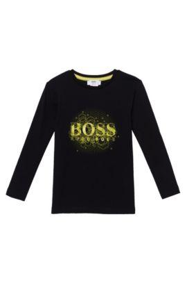 'J25892' | Boys Jersey Logo T-Shirt, Black