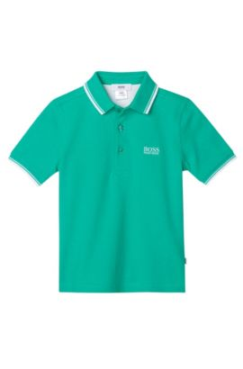 'J25910'   Toddler Cotton Pique Polo Shirt , Green