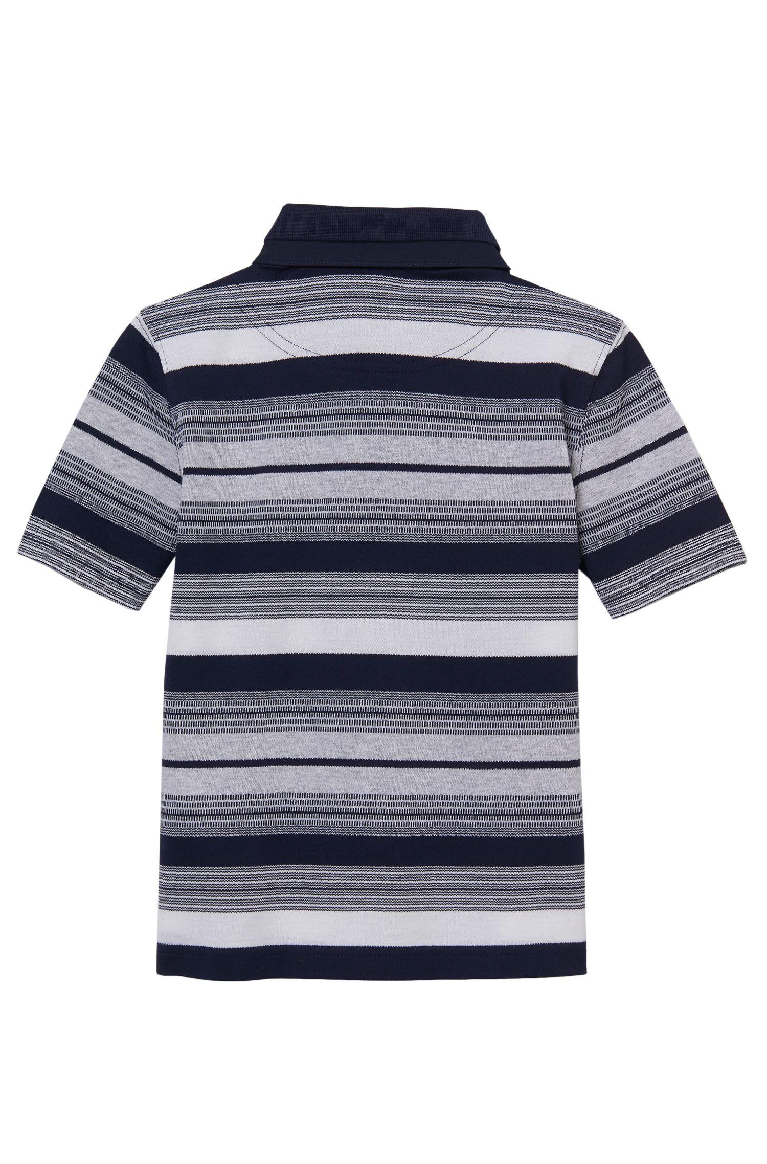 'J25913'   Boys Stretch Cotton Striped Polo Shirt