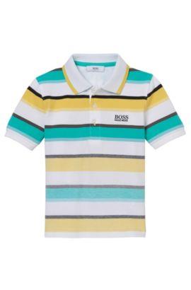 'J25922' | Boys Stretch Cotton Striped Polo, Green