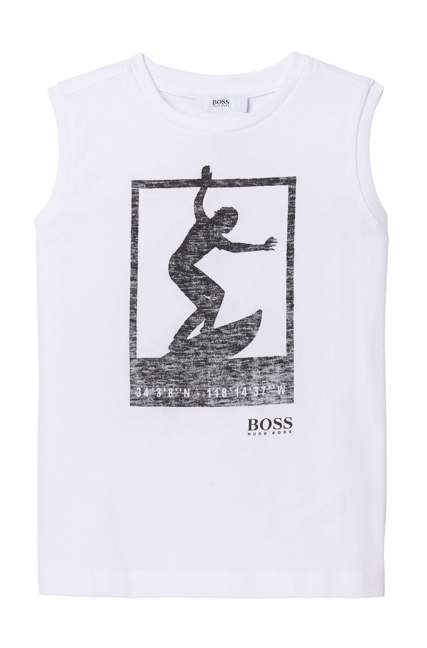 'J25926' | Boys Cotton Blend Graphic Tank Top