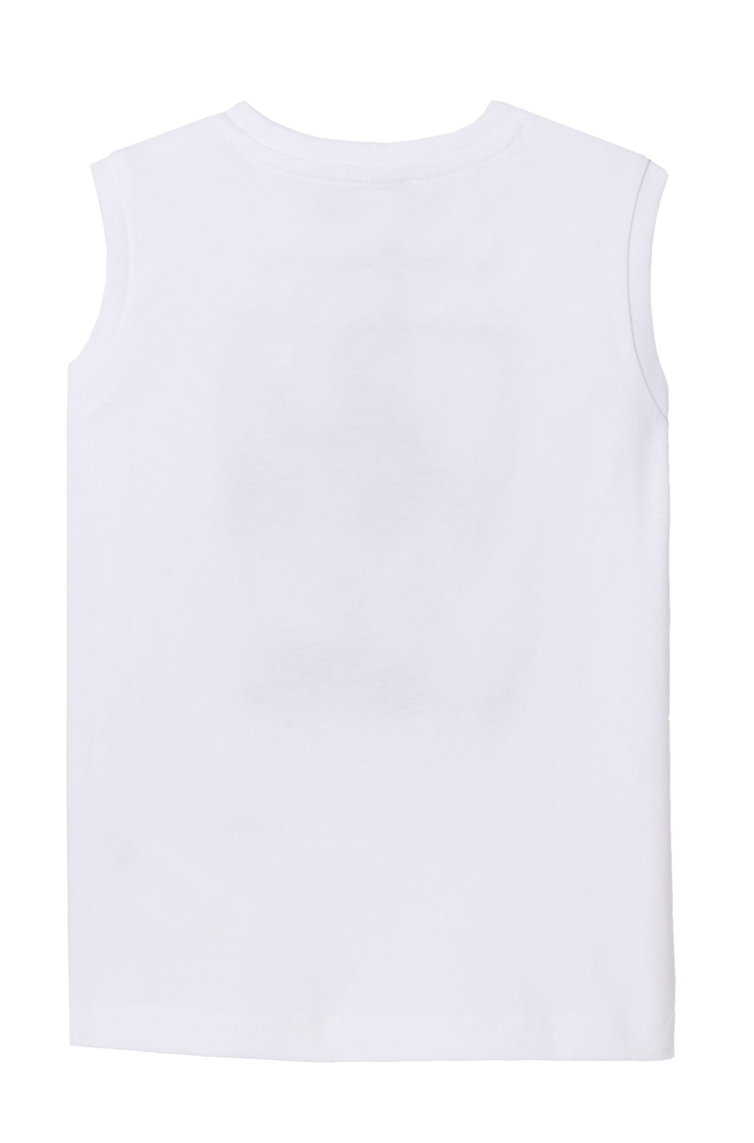 'J25926' | Boys Cotton Blend Graphic Tank Top