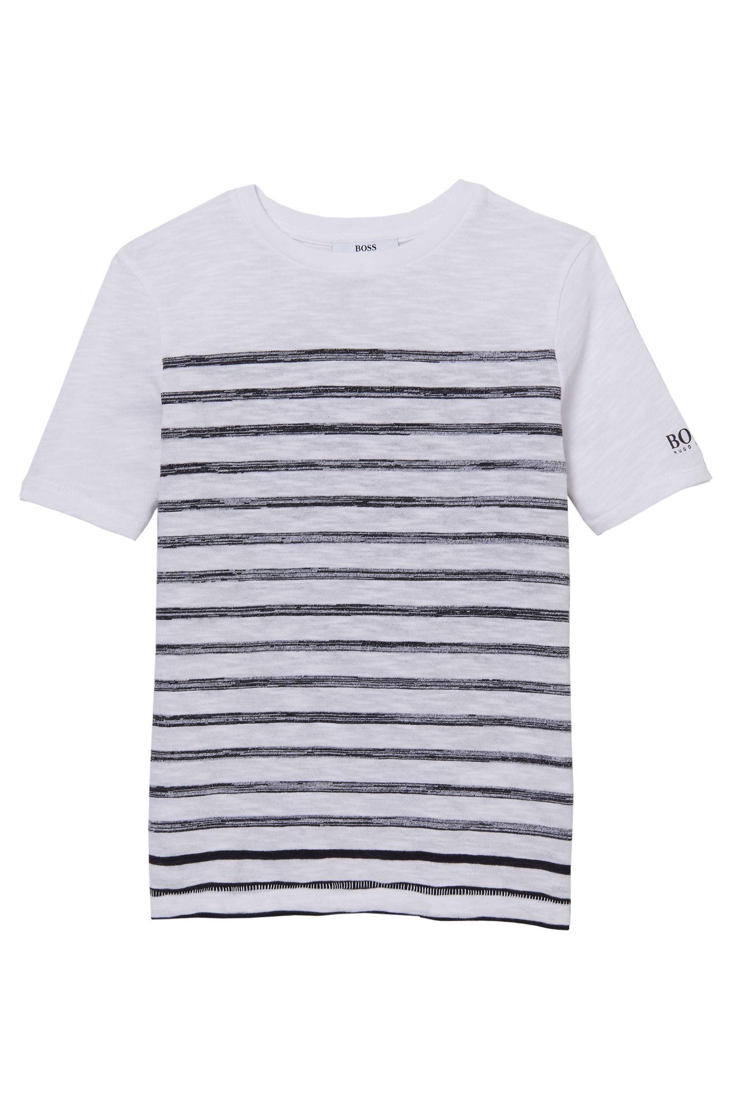 'J25941' | Boys Cotton Striped Tee