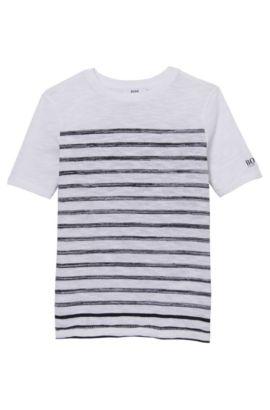 'J25941' | Boys Cotton Striped Tee, Patterned