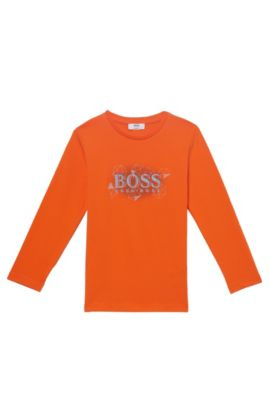 'J25987' | Cotton Logo T-Shirt, Orange