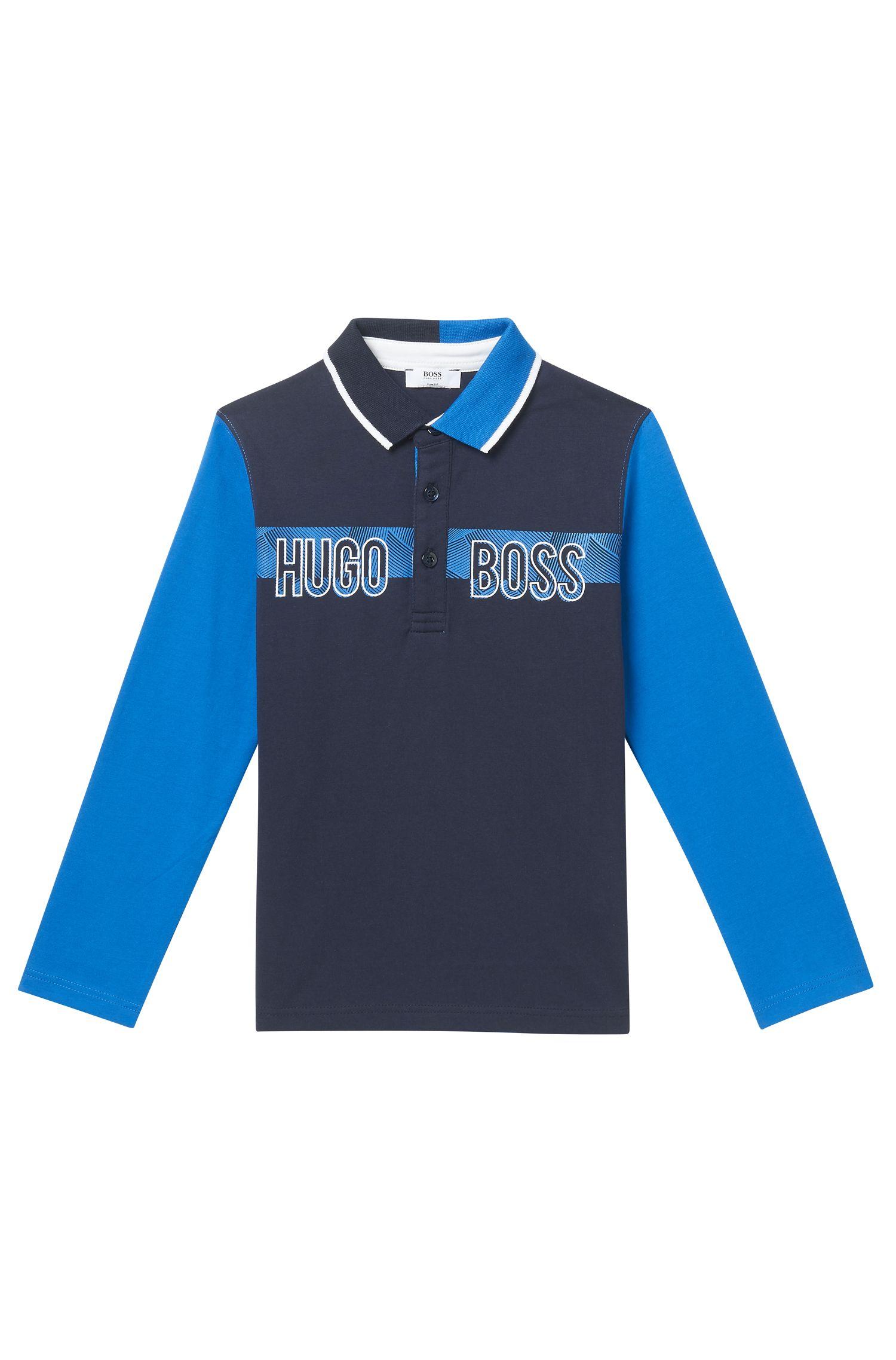 'J25994' | Boys Cotton Logo Polo Shirt