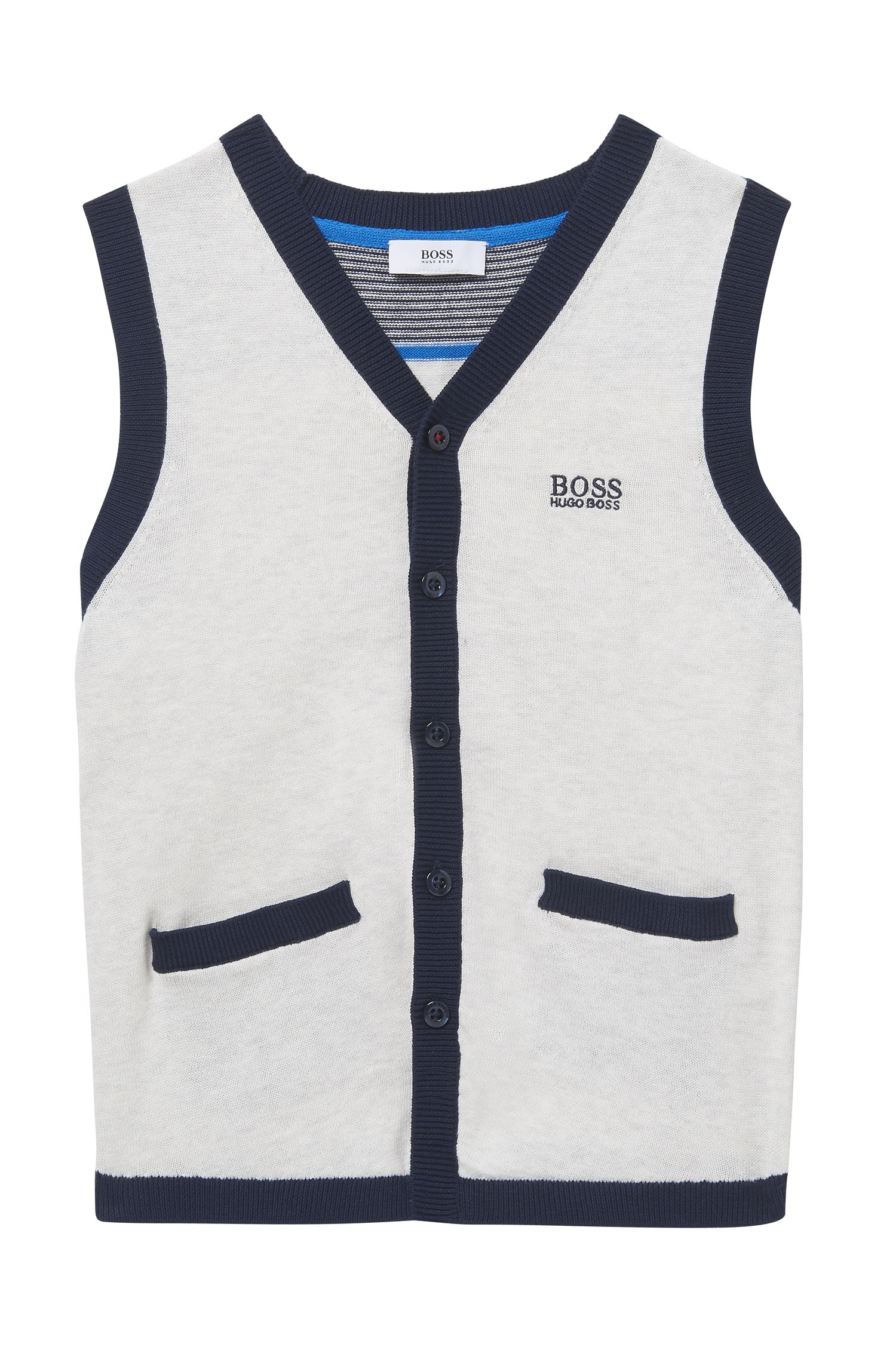 'J25A09' | Boys Knit Cotton Vest