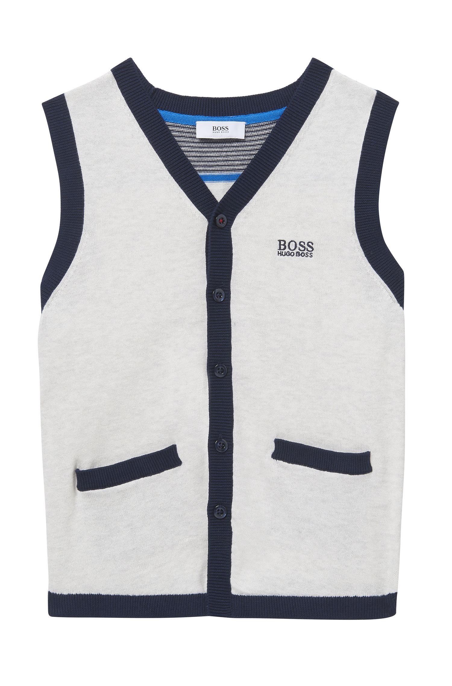 'J25A09'   Boys Knit Cotton Vest