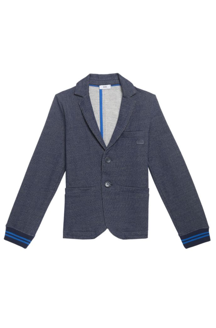 'J25A12' | Boys Cotton Melange Blazer