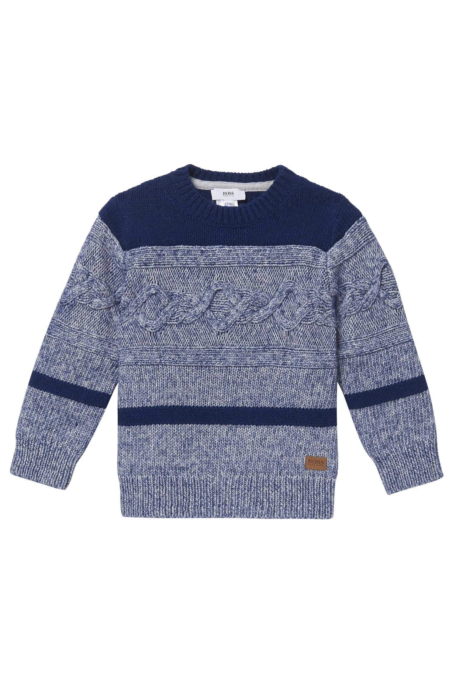 'J25A26' | Boys Cotton Cable Sweater