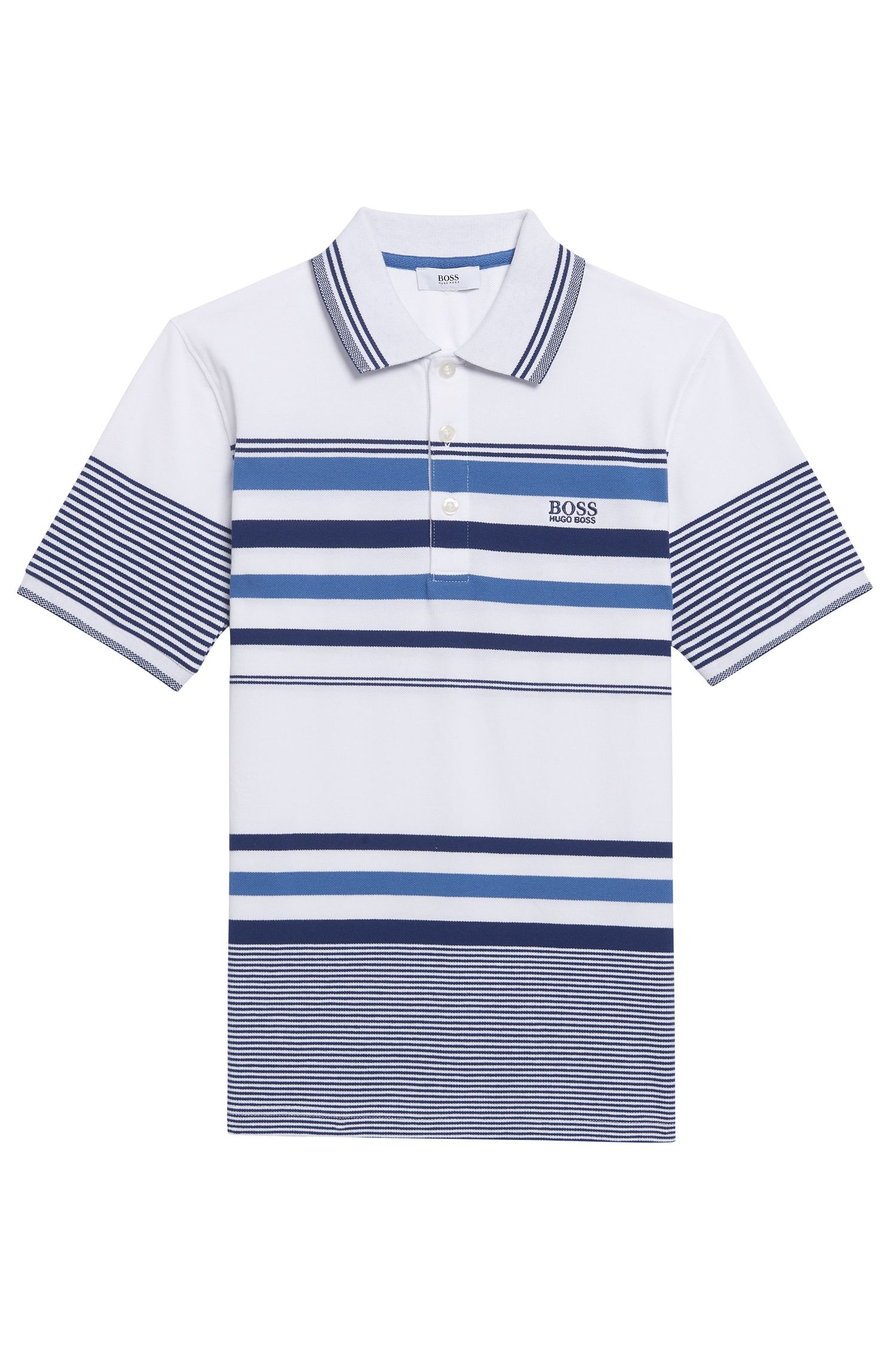 'J25A31' | Boys Cotton Polo Shirt