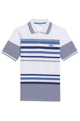 'J25A31'   Boys Cotton Polo Shirt, Patterned
