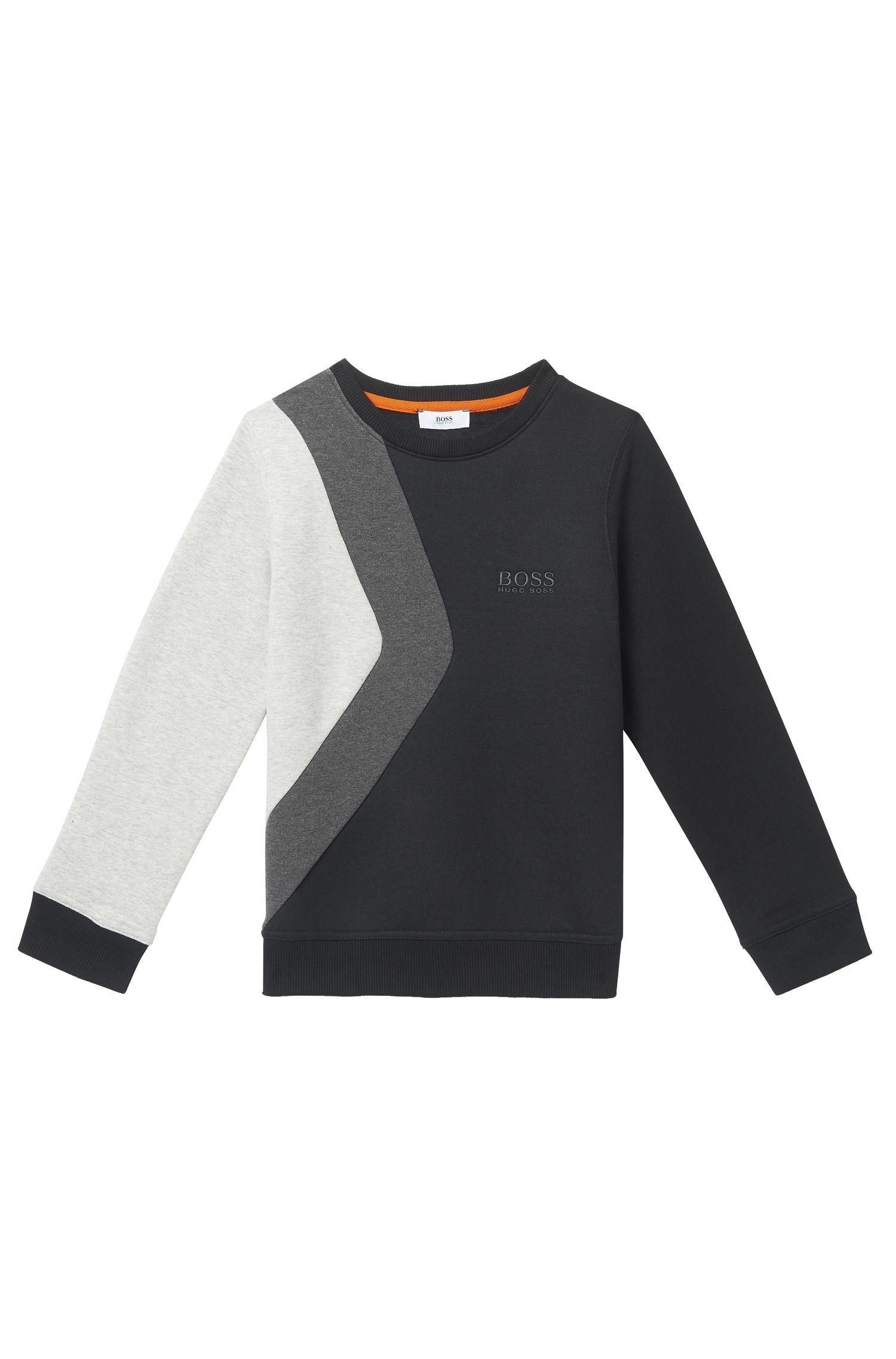 'J25A33' | Boys Cotton Colorblock Sweatshirt