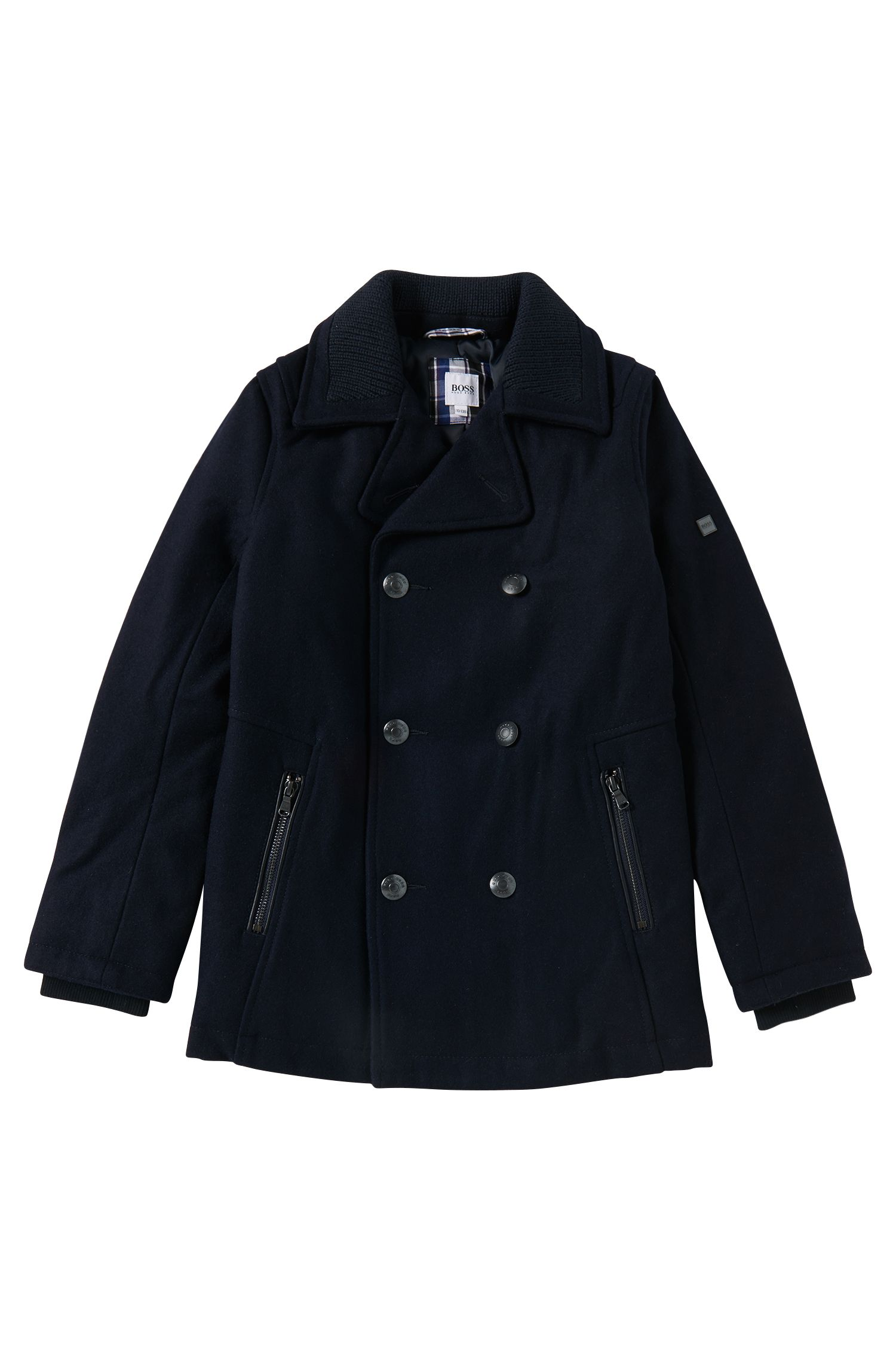 'J26257' | Boys Wool Pea Coat