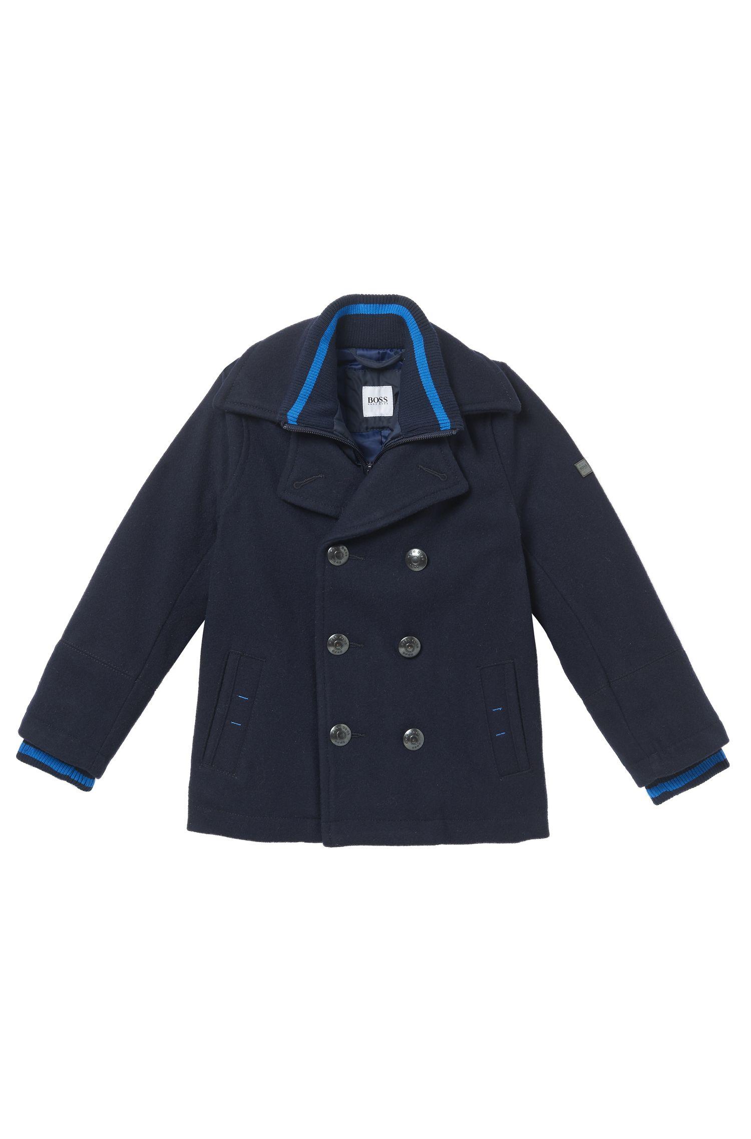 'J26287' | Boys Layered Pea Coat