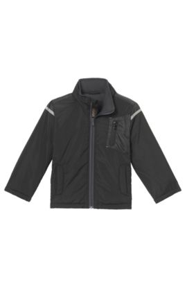 'J26291' | Boys Nylon Jacket, Black