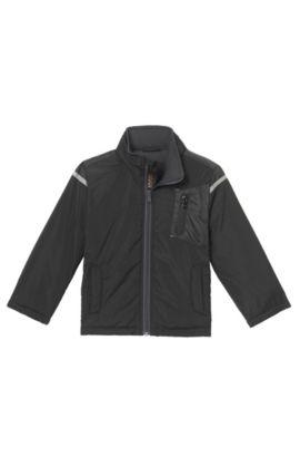 'J26291' | Boys Nylon Jacket, Black