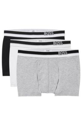 'J27V58'   Boys Cotton Boxer Briefs, 3-Pack, Black