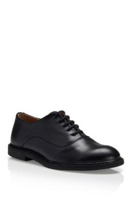 'J29097' | Boys Leather Derby Shoes, Black