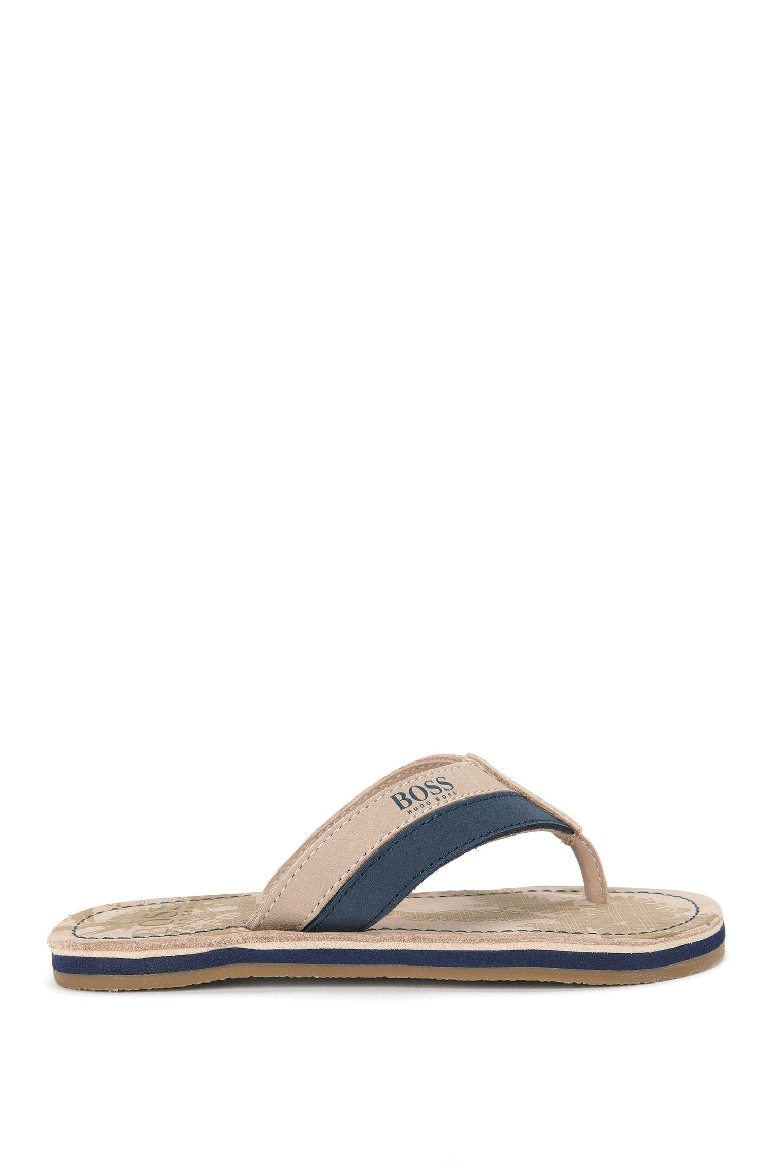 'J29111' | Boys Leather Thong Sandals