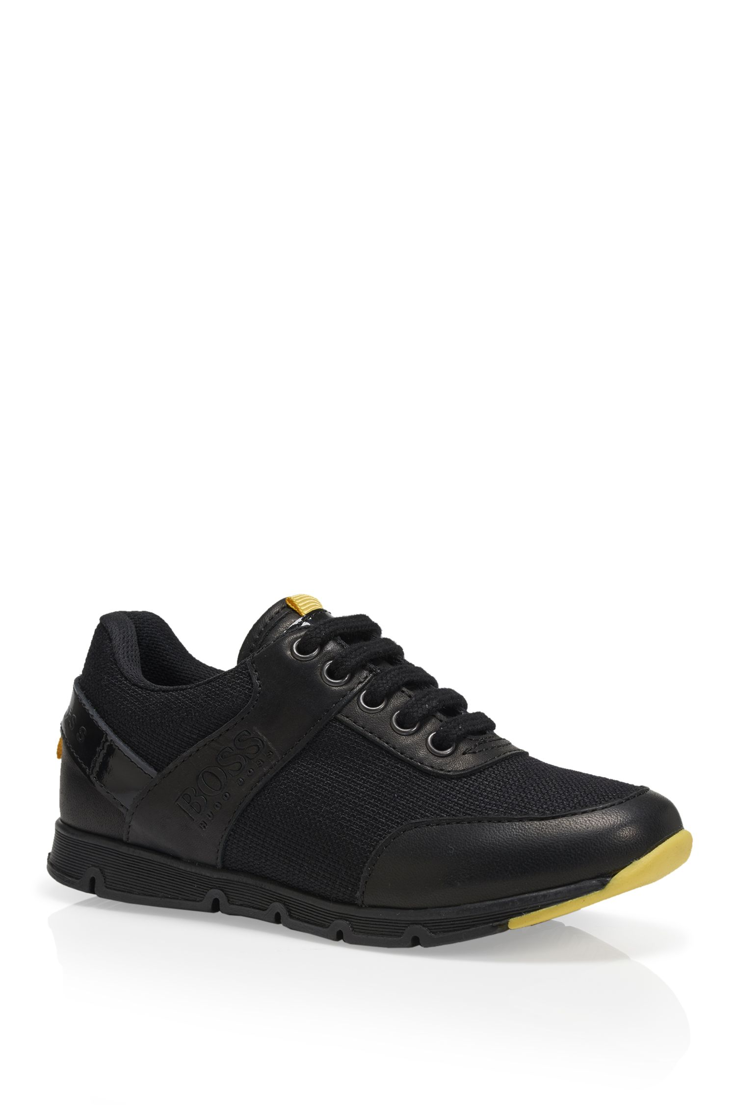 'J29113' | Boys Leather Sneakers