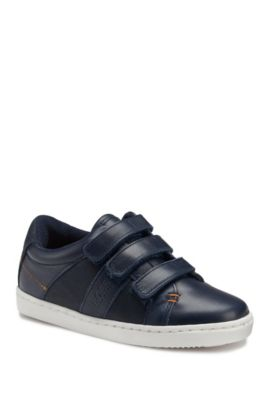 Kids' Leather Velcro Sneaker | J29122/84927, Dark Blue