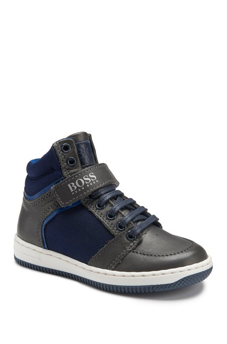 606b5feacfdbc BOSS - Kids  High Top Leather Sneakers
