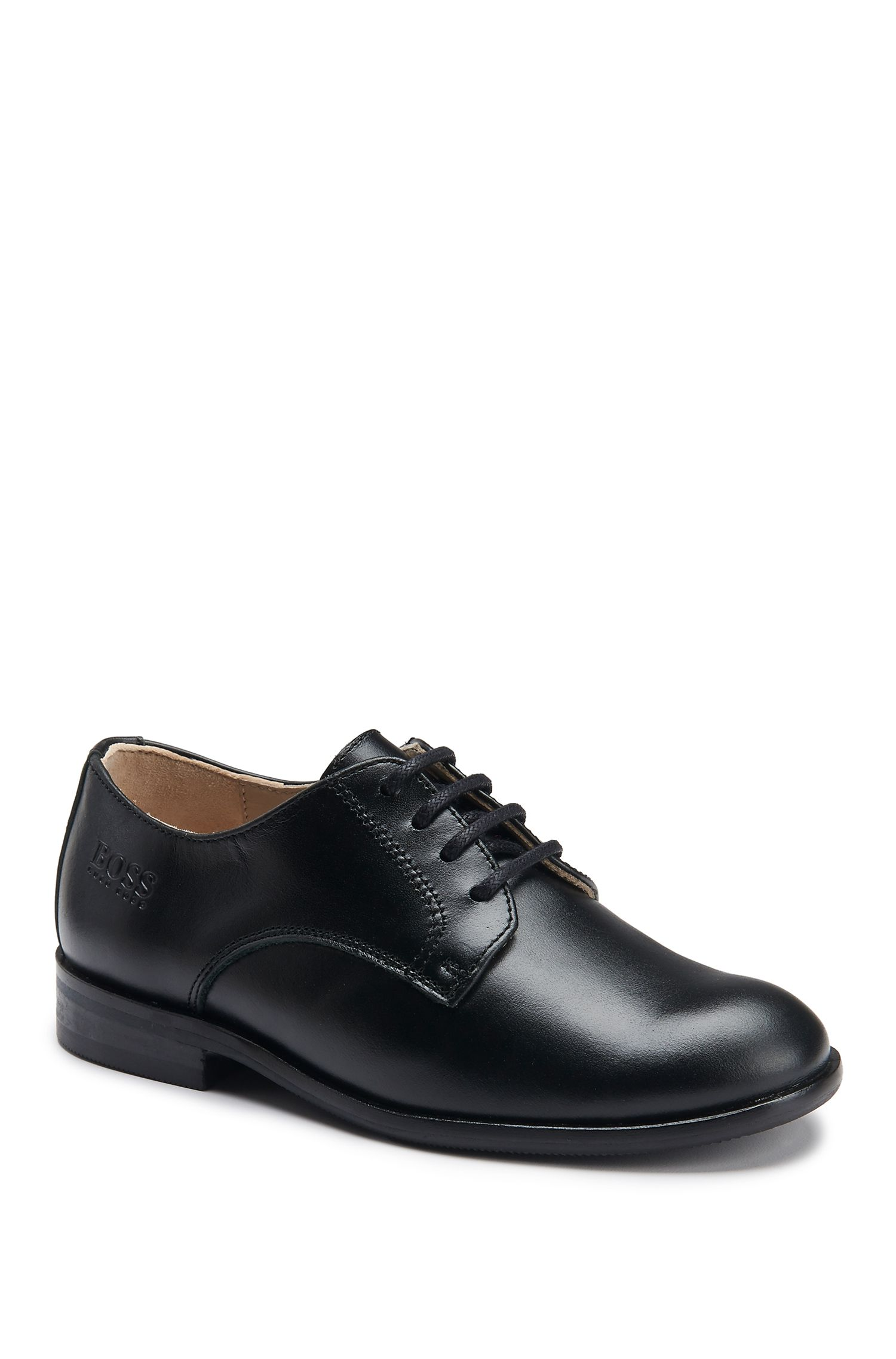 Kids' Leather Derby Shoe   J29V15