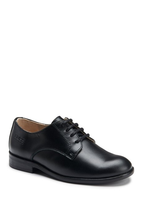 Kids' Leather Derby Shoe | J29V15, Black