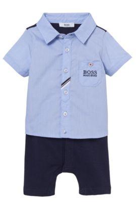 'J94160' | Newborn Cotton Onesie, Dark Blue