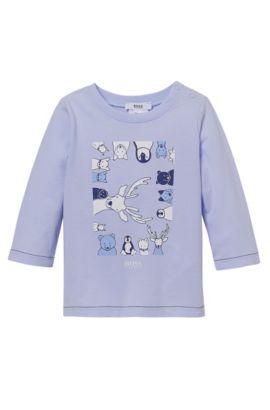 'J95165' | Newborn Animal T-Shirt, Light Blue