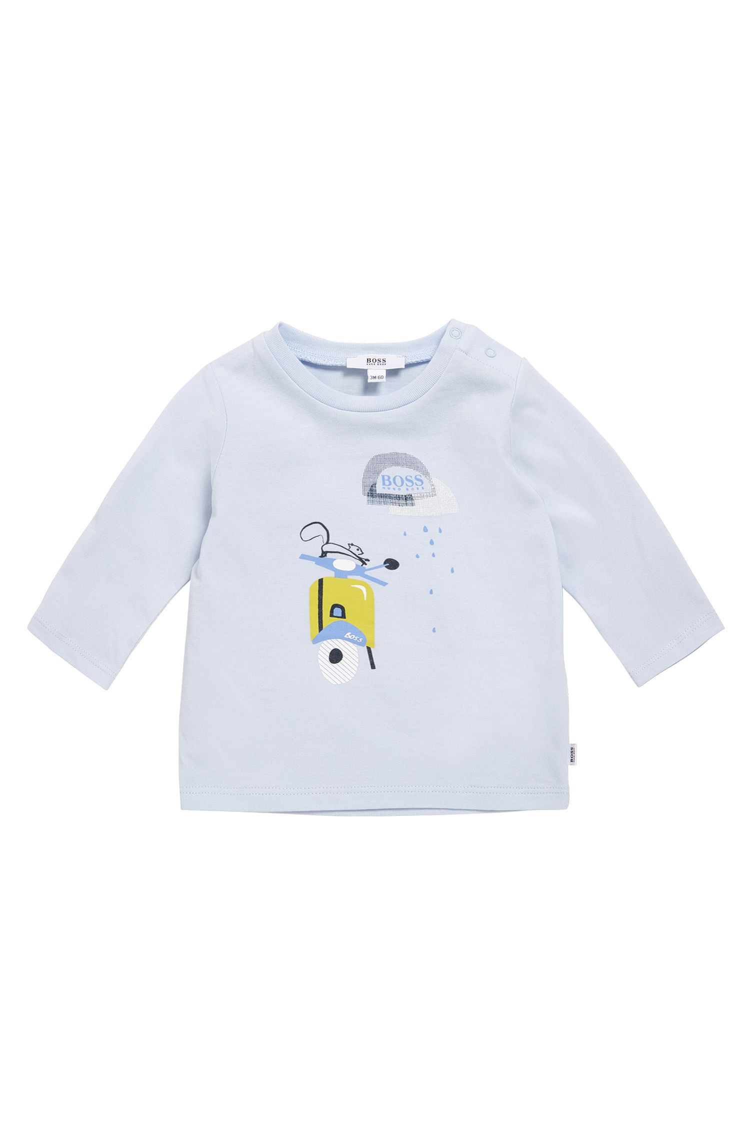 'J95209' | Newborn Cotton Button Shoulder T-Shirt