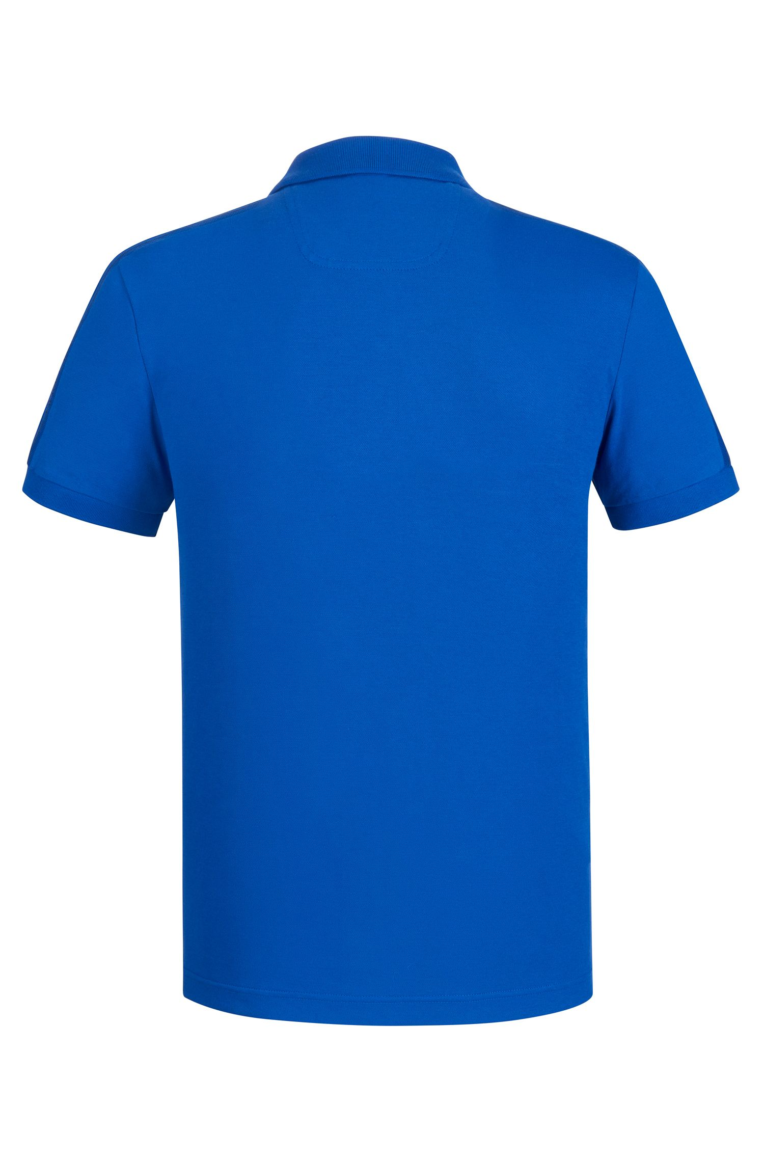 Slim-fit polo shirt in technical stretch fabric, Blue
