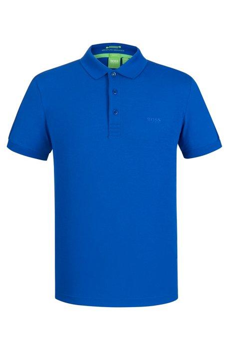 9bd9b317c BOSS - Slim-fit polo shirt in technical stretch fabric
